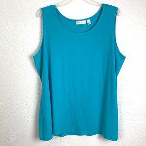 Susan Graver ize XL Turquoise Tank Top